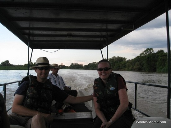 On the boat cruise down the Rio do Miranda in the pantanal wetlands tour