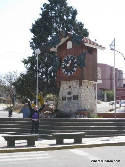 cuckoo clock in Villa Carlos Paz
