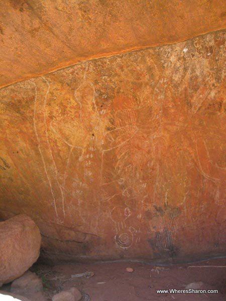 rock painting at Uluru