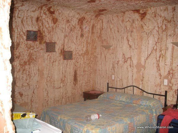 Part of our underground hotel room in coober pedy