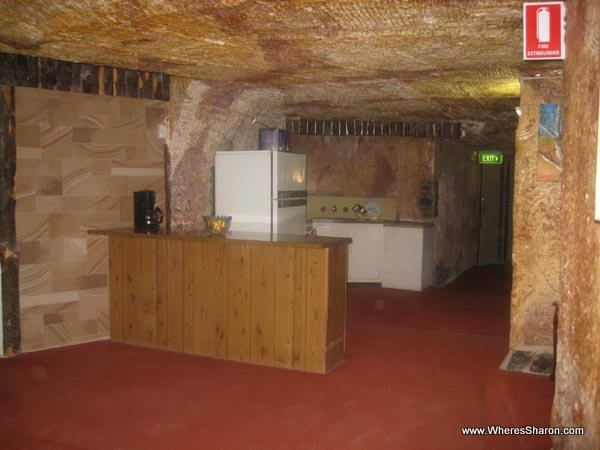 Underground home with kitchen in coober pedy