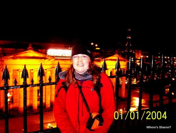 Freezing cold, but happy, at Hogmanay