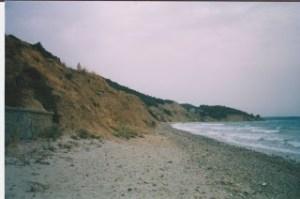 Anzac Cove beach and small cliff gallipoli