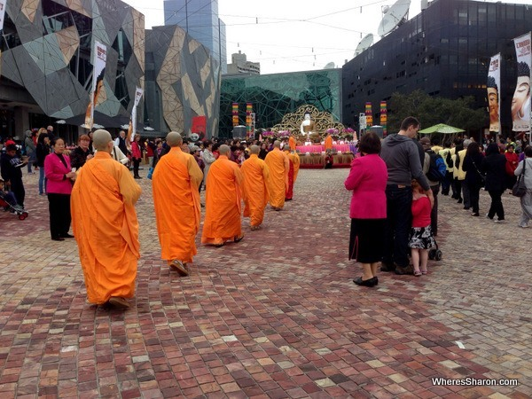 Monks at Buddha's Day Multicultural Festival