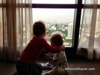 Enjoying the view from our KL hotel room