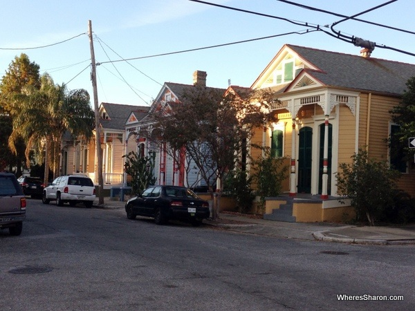 colourful houses lining a street in the treme new orleans