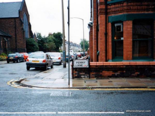 street sign saying penny lane