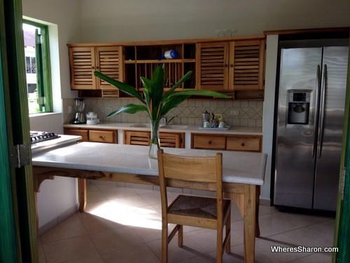 kitchen at albachiara hotel las terrenas