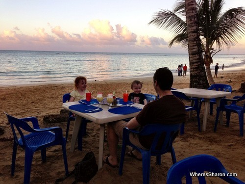 restaurant on the beach in attractions las terrenas
