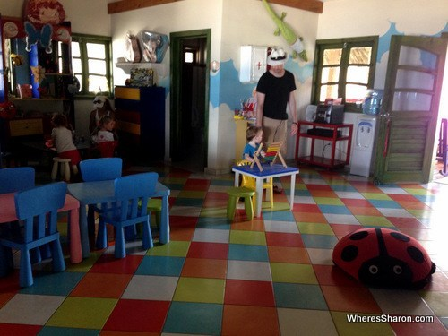 inside the kids club at the Grand Marien all inclusive costa dorada