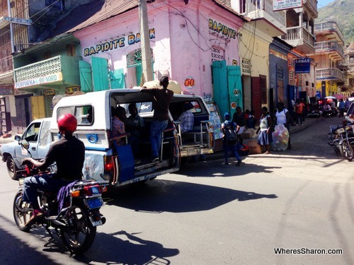 Streets and tap taps in cap-haitian