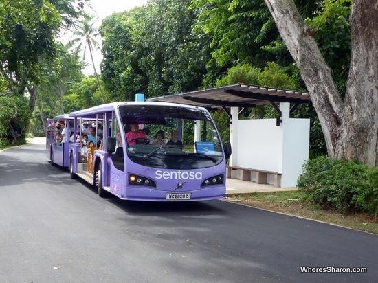 beach tram on sentosa island