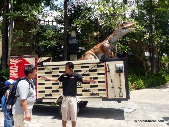 dinosaur at lost world Universal Studios Singapore
