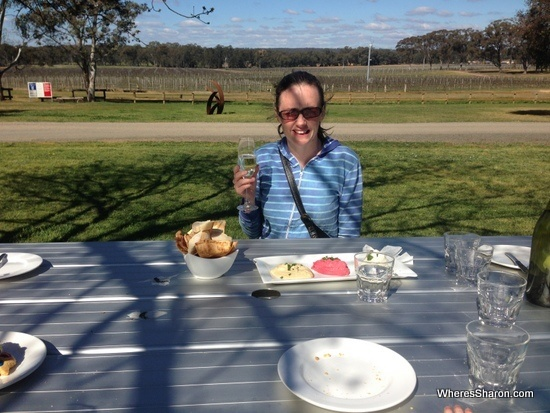 Balgownie Winery and food in Bendigo
