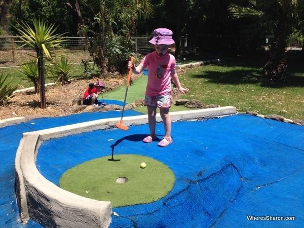 Mini golf at Harvey's Fun Park