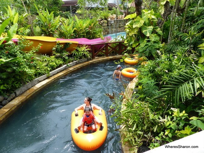 lazy river at waterbom bali