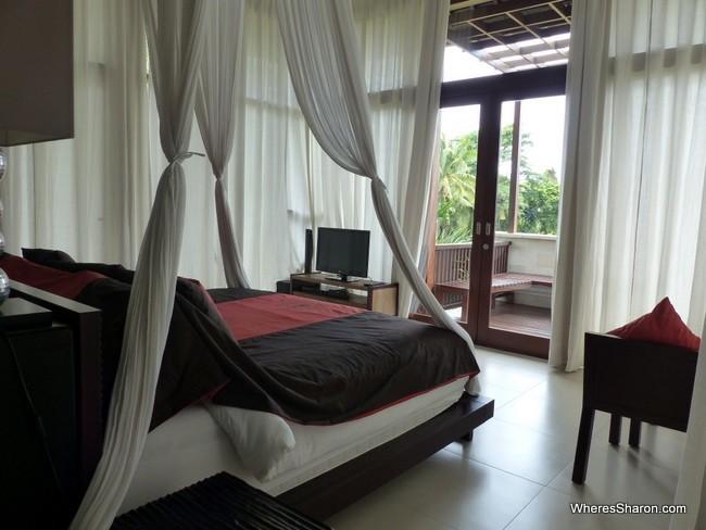 main bedroom in ubud family villa