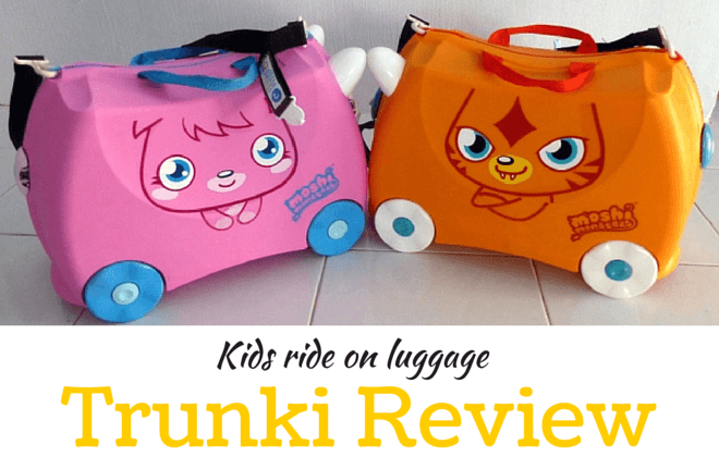 kids ride on luggage trunk review