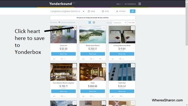 Adding a hotel to a Yonderbox