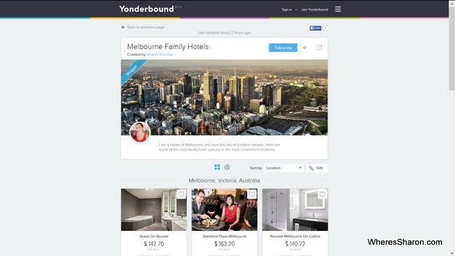 My Melbourne Family Hotels Yonderbox