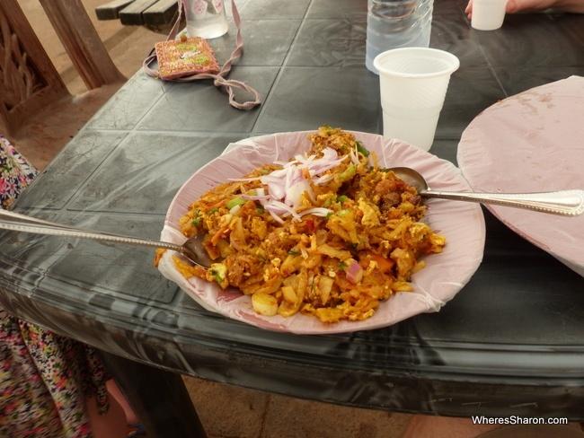 vegetable kotthu