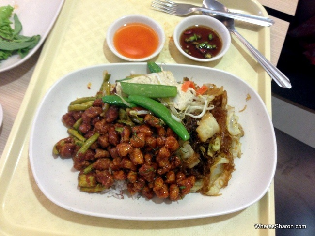 Some beautiful vegetarian food at MBK