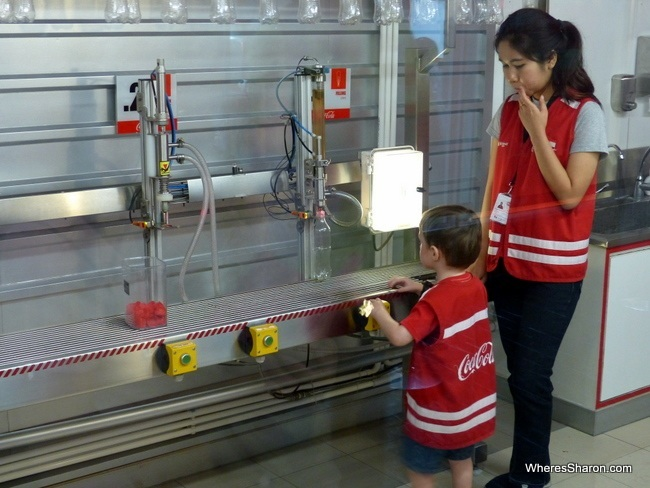 KidZania Bangkok coke bottling