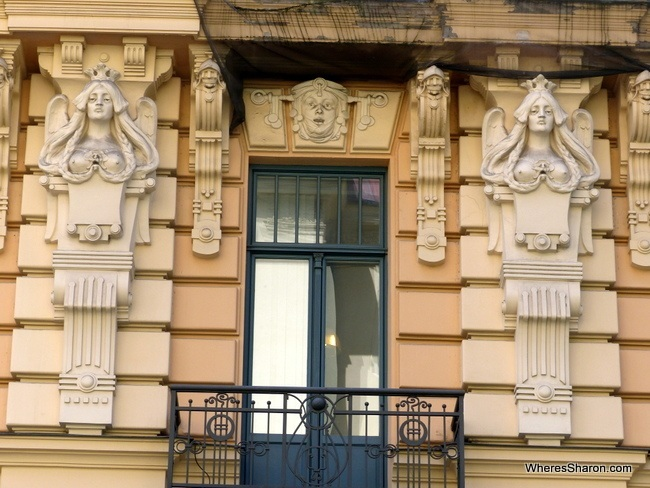 An example of the Art Nouveau architecture in Riga