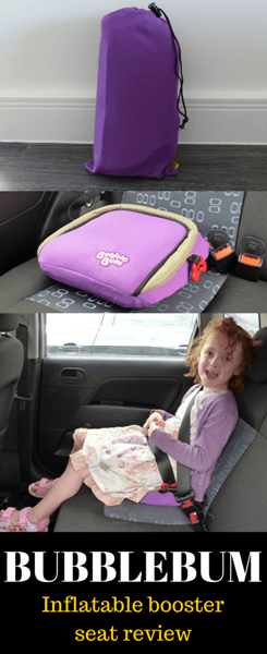 BUBBLEBUM inflatable booster seat review