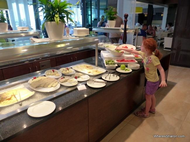 the buffet at Falkensteiner Family Hotel Diadora
