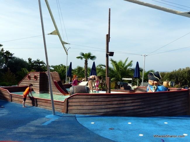 pirate ship pool Falkensteiner Family Hotel Diadora