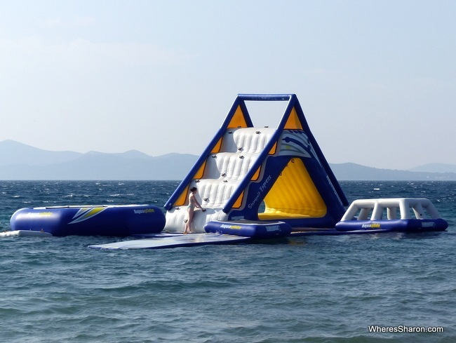 inflatable water park at Falkensteiner Family Hotel Diadora