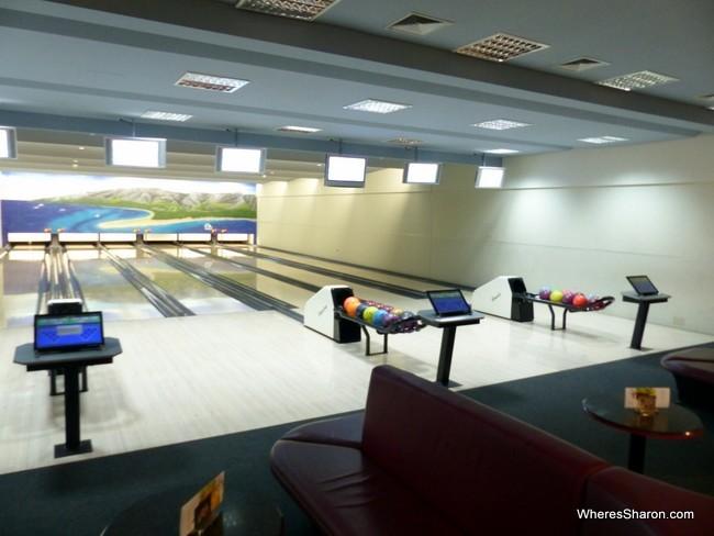 bowling alley at Bluesun Elaphusa Hotel