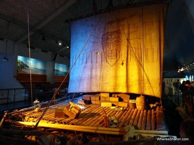 Thor Heyendahl's balsa wood ship, the Kon-Tiki in the musuem of the same name.