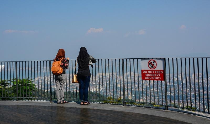 At the top of Penang Hill