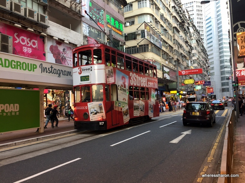 double decker tram hong kong