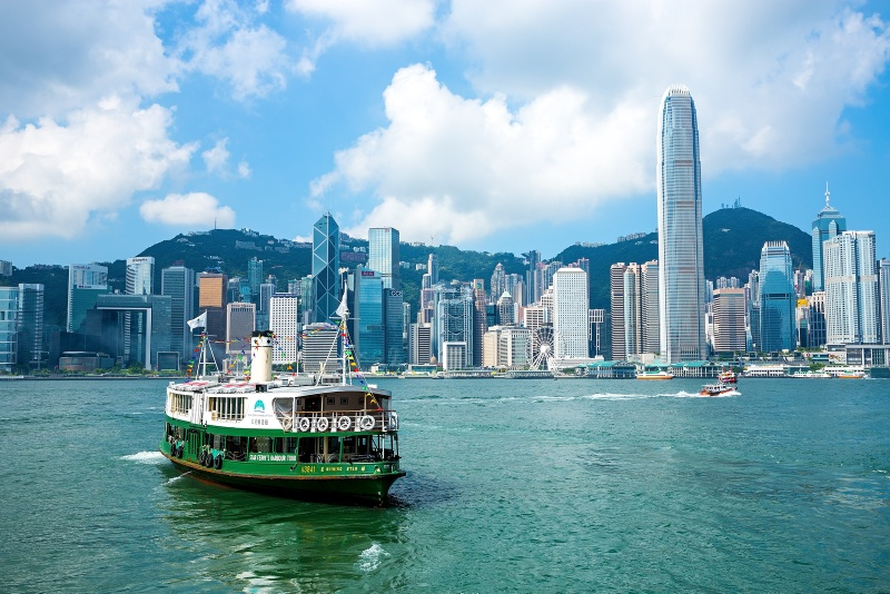 The famous Hong Kong Star Ferry