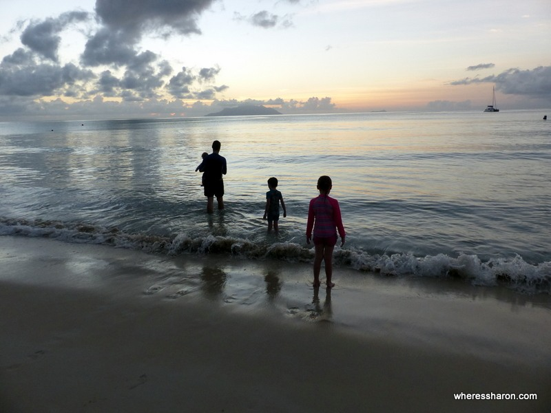 seychelles attractions activities beau vallon beach at sunset