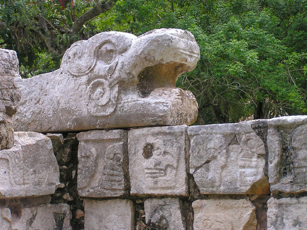 Kukulcan the Feathered Serpent, at Chichen Itza