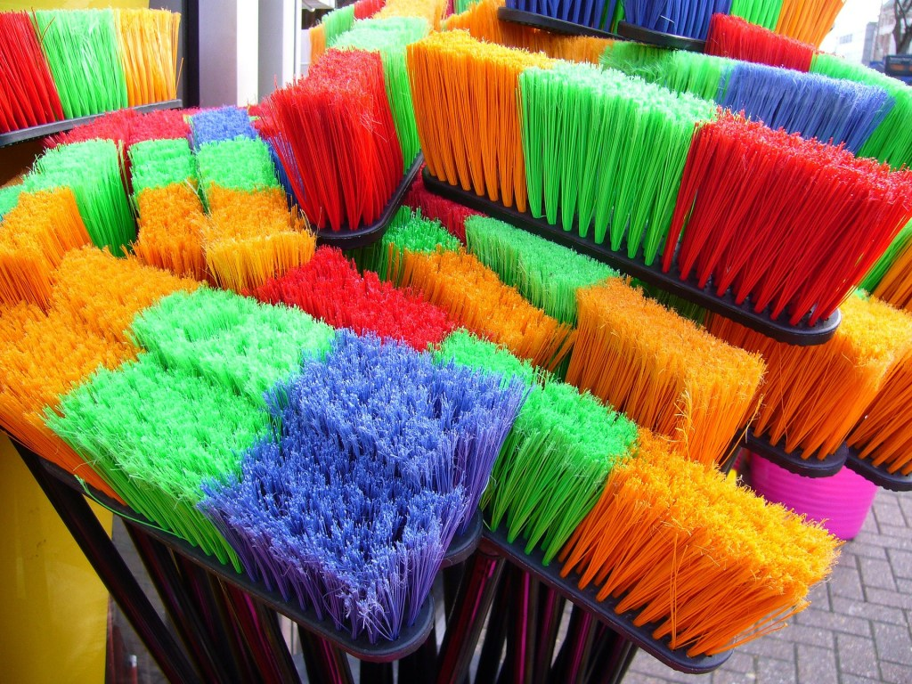 Happy Rainbow Brooms to Make Cleaning More Fun.