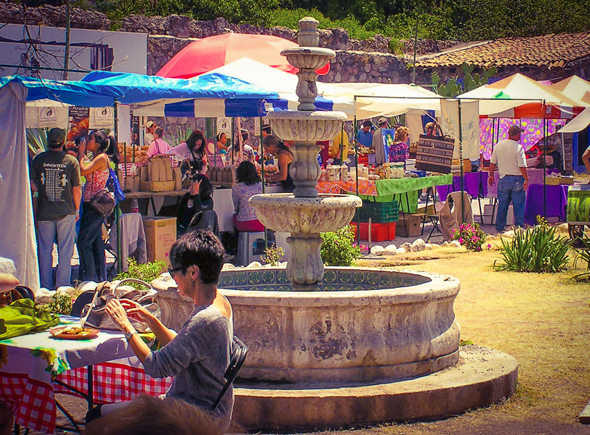 San Miguel de Allende's Saturday market and social scene.