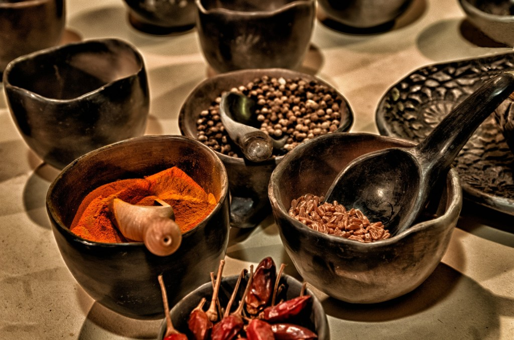 A few traditional Mexican cooking spices.