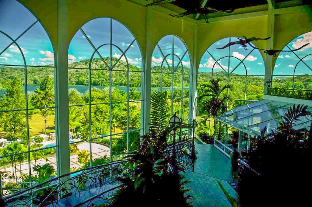 Lobby of Gamboa Rainforest Resort with El Corotu Restaurant