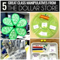 Five Class Manipulatives from The Dollar Store