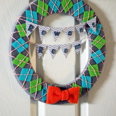 Boy Nursery Wreath