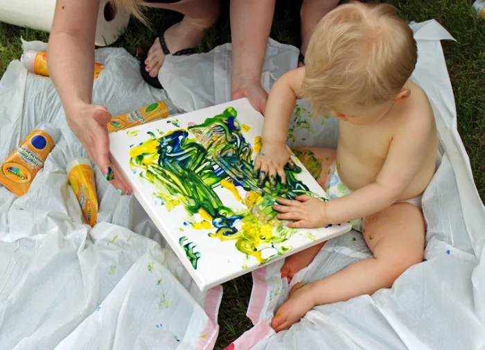 First Birthday Art Canvas: The Start of a Fun Tradition!   Where The Smiles Have Been #firstbirthday #birthday #birthdaytradition