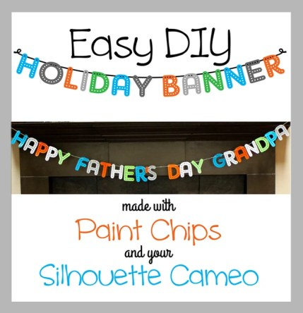 How to Cut Paint Chips with a Silhouette & Make a Banner | Where The Smiles Have Been #paintchips #banner #paintchipcraft #frugal #Silhouette