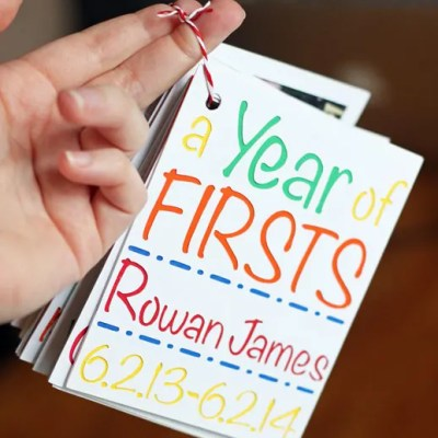 Baby's 'Year of Firsts' Photo Keepsake