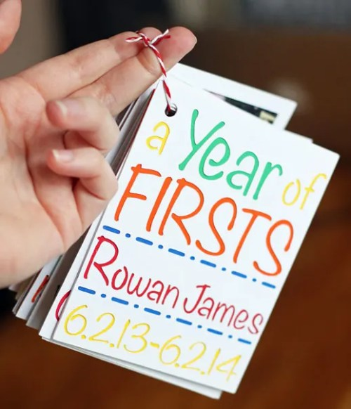Year of Firsts Photo Keepsake for Baby