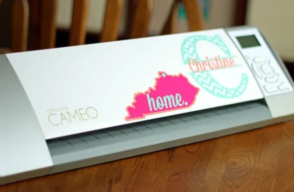 How to Layer Vinyl and Make a {Cute & Feminine} Home State Decal | Where The Smiles Have Been